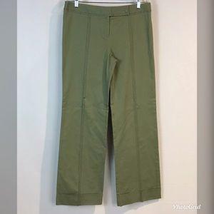 Anthropologie Elevenses 10 Wide Leg Pants Cuffed